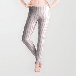 Pink Watercolour Stripes Leggings