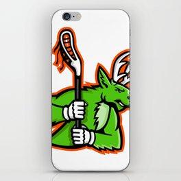 Stag Deer Lacrosse Mascot iPhone Skin