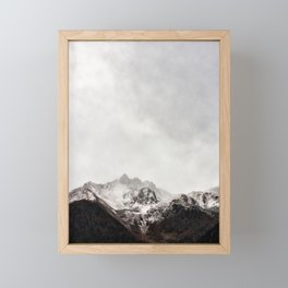 Scenic Mountain Photograph Grunge Weathered Look Framed Mini Art Print