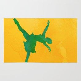 AP124 Watercolor dancer Rug