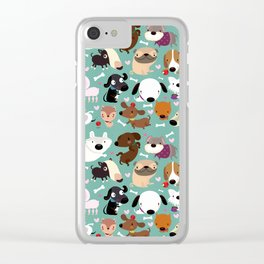 Happy dogs Clear iPhone Case