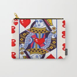 RED QUEEN OF ALL MY HEARTS Carry-All Pouch