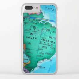 South America Clear iPhone Case