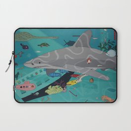 Aquarium (Shark Painting) Laptop Sleeve