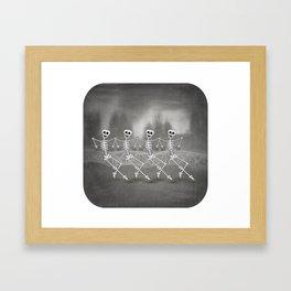 Dancing skeletons I Framed Art Print