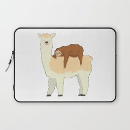 Cute Llama with a Sleeping Sloth Gift Laptop Sleeve
