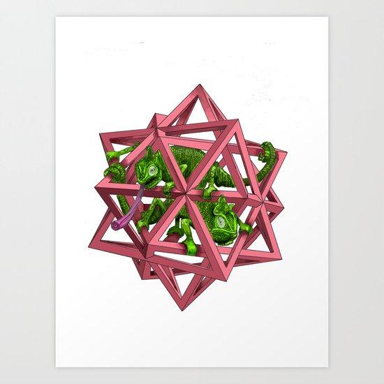 color me m.c. cubed! Art Print