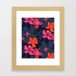 Camelia Woodcut - Winter Framed Art Print