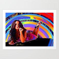 Megan Fox  2 Art Print