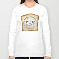 snoopy Long Sleeve T-shirts featuring Snoopy aka Breadcat - Cats with Moustaches by Megan Mars