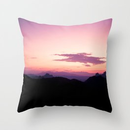 Fuchsia Sunset Throw Pillow