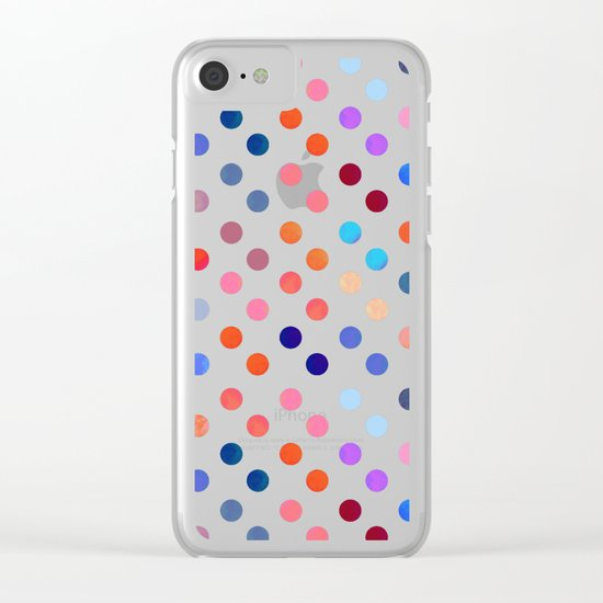 Polka Proton Clear iPhone Case
