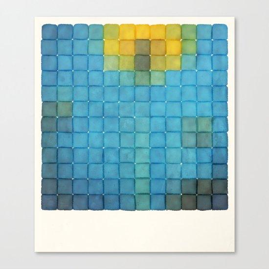 Polaroid Pixels I (Flower) Canvas Print