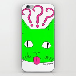 """Heckin Confused Derp Cat V.2"", by Brock Springstead iPhone Skin"