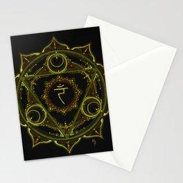 Solar Plexus Mandala Stationery Cards