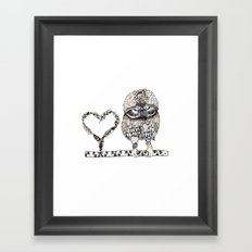 I Give you my heart Framed Art Print