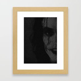 The Crow Screenplay Print (B&W) Framed Art Print