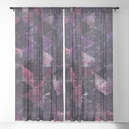 Abstract Geometric Background #13 Sheer Curtain