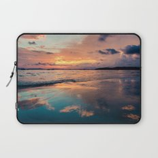 Beautiful Summer Beach Sunset Reflection Laptop Sleeve
