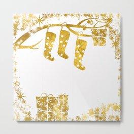 Gold Christmas 02 Metal Print