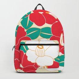 Shades of Tsubaki - Red & White Backpack