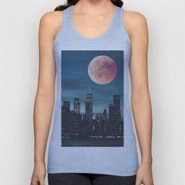New York City Blood Moon Skyline Unisex Tank Top