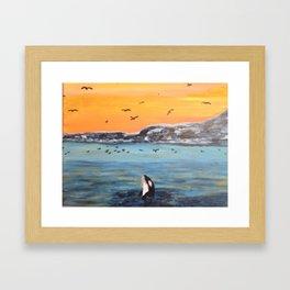 Flipper the Orca Framed Art Print