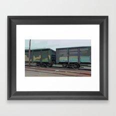 on rails Framed Art Print