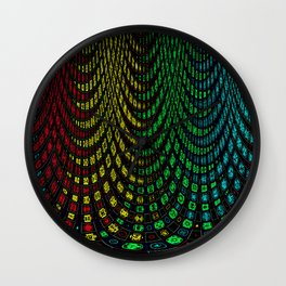 Curtains in abstract Wall Clock