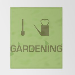 I heart Gardening Throw Blanket
