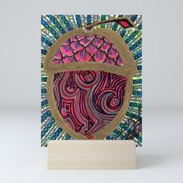 Gold Acorn Mini Art Print