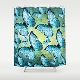 BUTTERFLY BLUE Shower Curtain