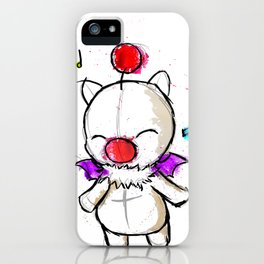 Watercolour Moogle  iPhone Case