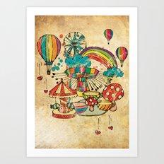 Funfair! Art Print