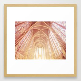 Saint Chapelle Paris Framed Art Print