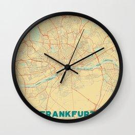 Frankfurt Map Retro Wall Clock