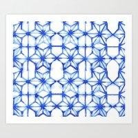 Abstract geometric star Art Print