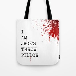 Jack's Throw Pillow Blood Tote Bag