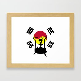 Flag of South Korea | Pressure stove Framed Art Print
