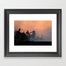 Destruction Framed Art Print