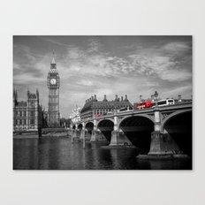Westminster Bridge and Big Ben Canvas Print