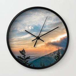Great Smoky Mountains Sunset Landscape Wall Clock