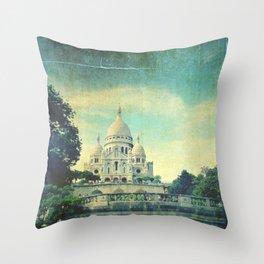 Sacré-Cœur Paris Throw Pillow