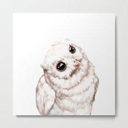 Baby Snowy Owl Metal Print