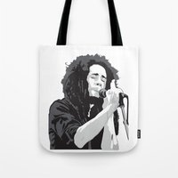 marley Tote Bags featuring Marley Music by Mark Lucas