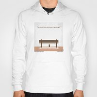 forrest gump Hoodies featuring No193 My Forrest Gump minimal movie poster by Chungkong
