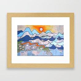 Mountains to Sea Framed Art Print