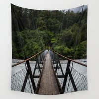 bridge Wall Tapestries featuring Bridge by Michelle McConnell