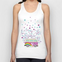 hippie Tank Tops featuring Hippie Land by Subcutaneo