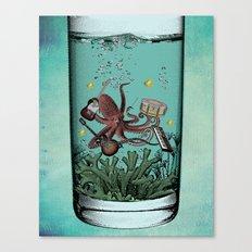 Musical Octopus Print Canvas Print